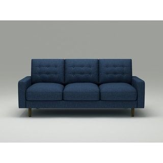 Shop Us Pride Furniture Ruthe Blue Matte Velvet And Wood Mid Century
