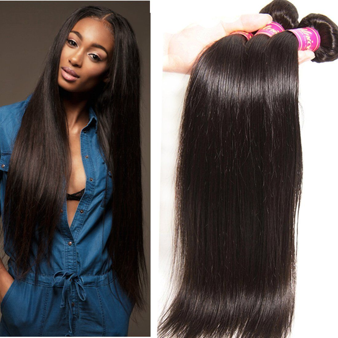 Unice hair natural color 16 18 20inch brazilian straight hair 3 unice hair natural color 16 18 20inch brazilian straight hair 3 bundles 100 unprocessed brazilian human hair colorweave extensionsnatural pmusecretfo Images