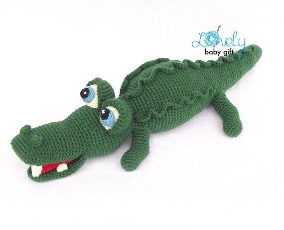 Amigurumi Patterns Free Crochet Pdf : Amigurumi pattern crochet alligator amigurumi by lovelybabygift
