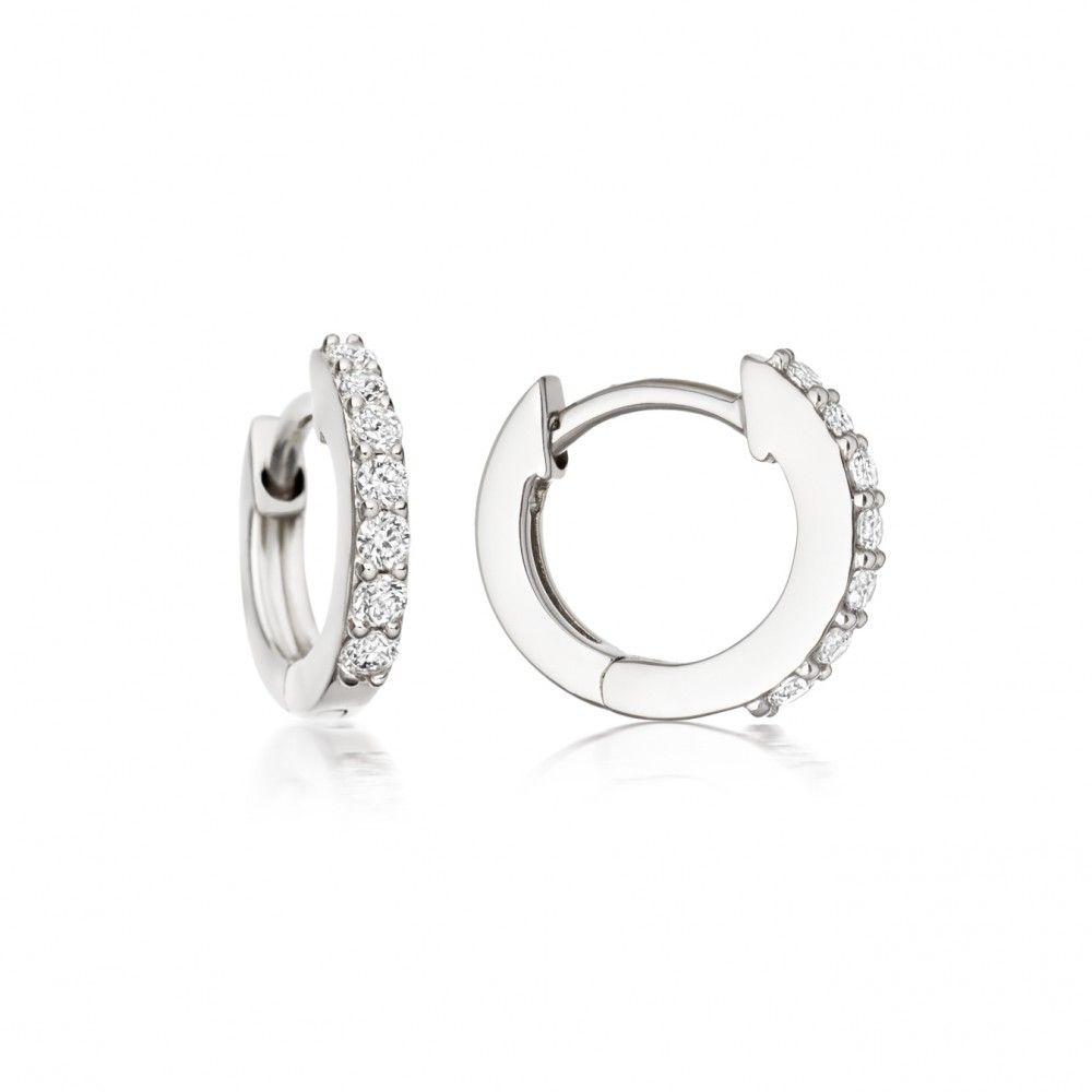 e0d97b07cebca Mini Halo Diamond Hoop Earrings | earrings | Diamond hoop earrings ...
