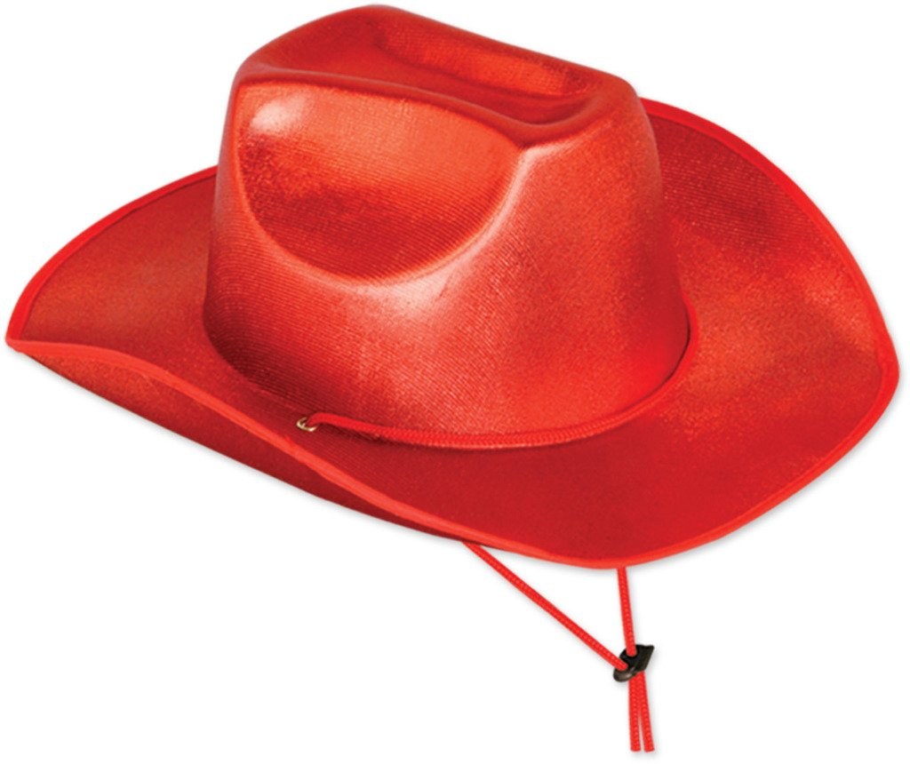 9df36e749f3 wholesaletheatrical Cowboy Hat - Red (Case of 6)