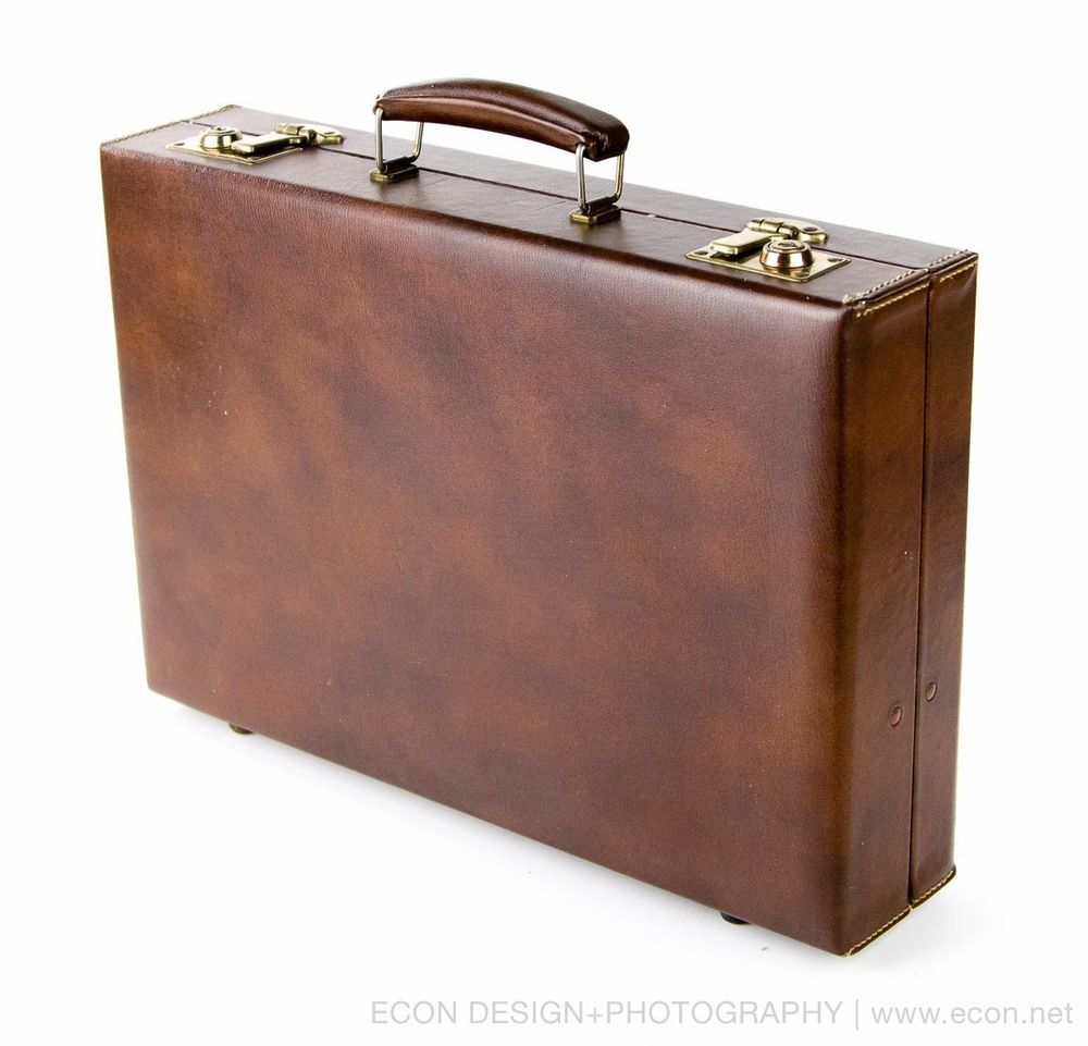 c9ddcca5d4ee VINTAGE SOFTONE BROWN FAUX LEATHER ATTACHE CASE EXECUTIVE BRIEFCASE LUGGAGE  VGC  SOFTONE  BriefcaseAttache