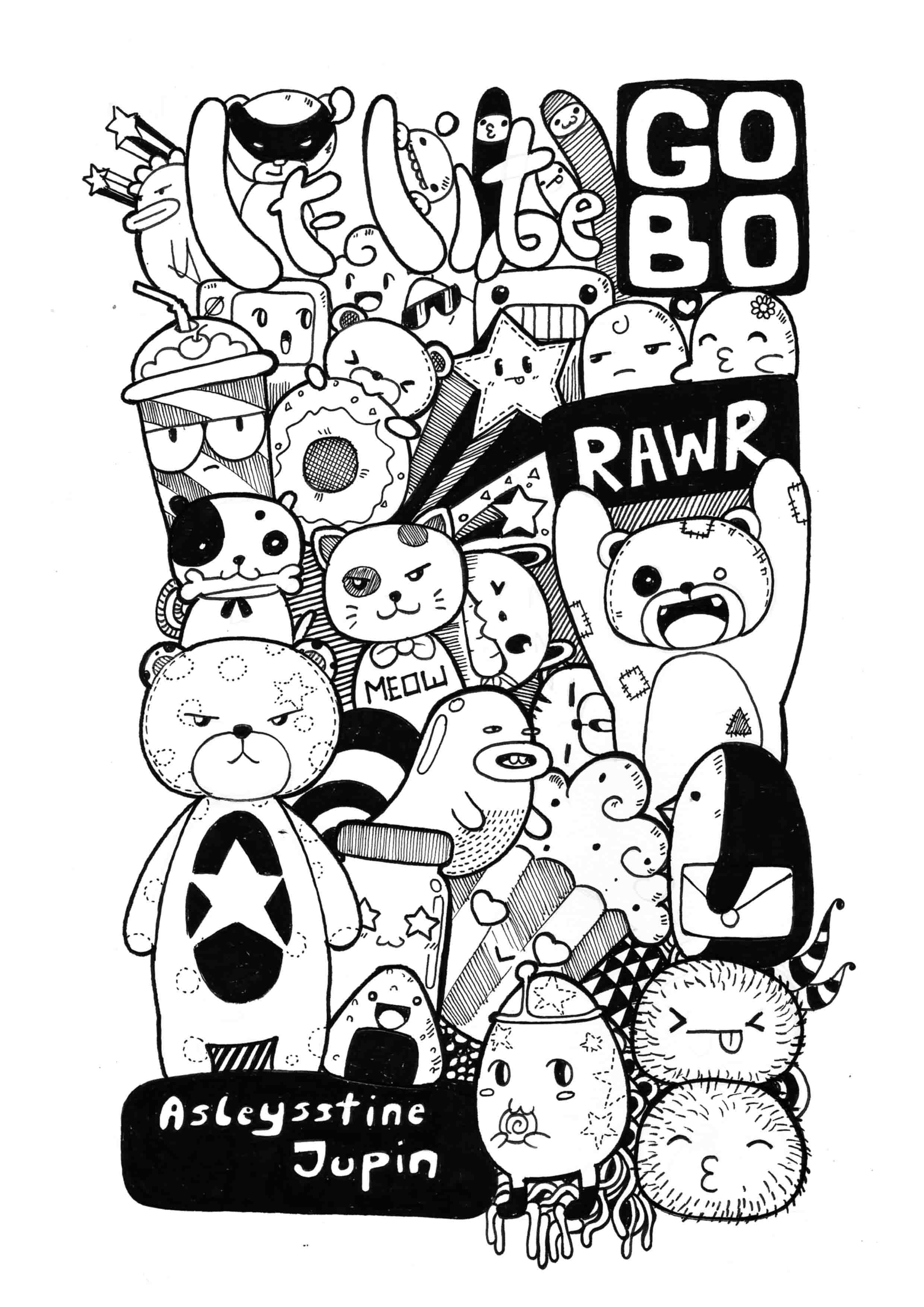 Random Doodles Desain Desain Blus