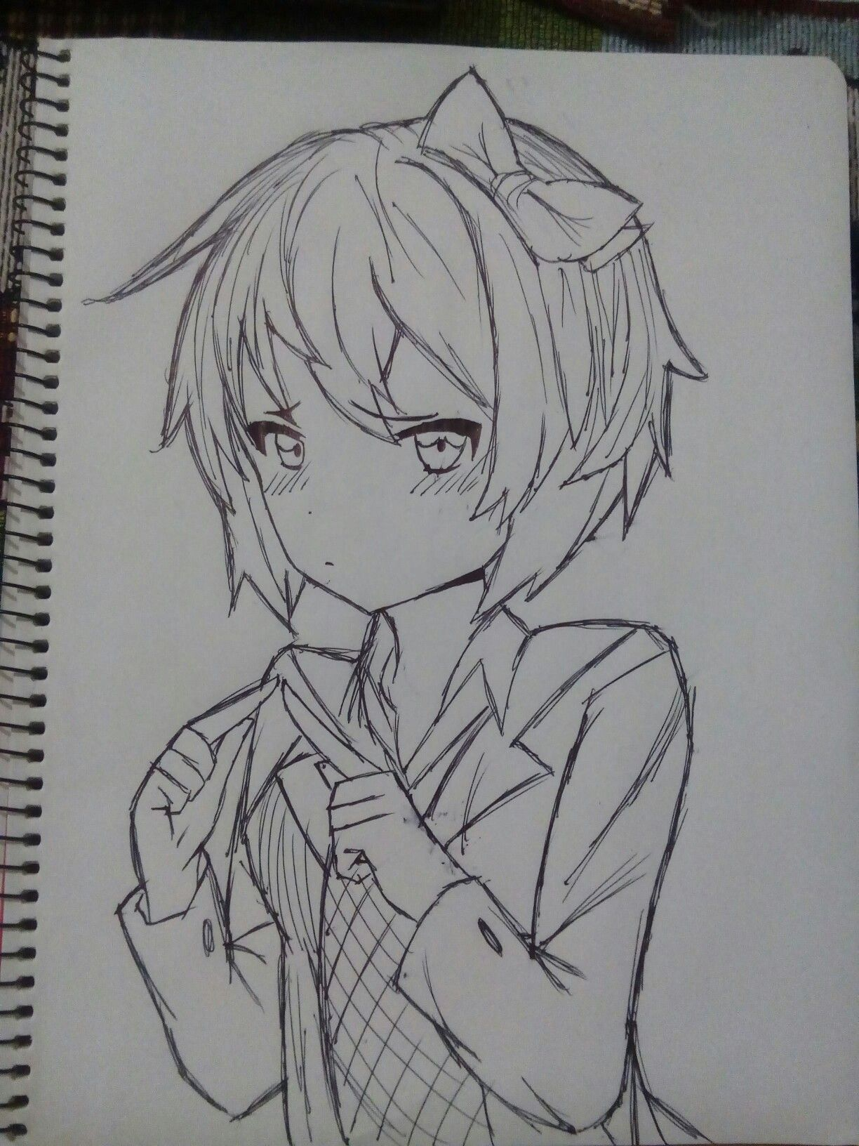 Ddlc Game Images Sayori Old 5 By Dam24 Literature Club Drawings Art Sketches