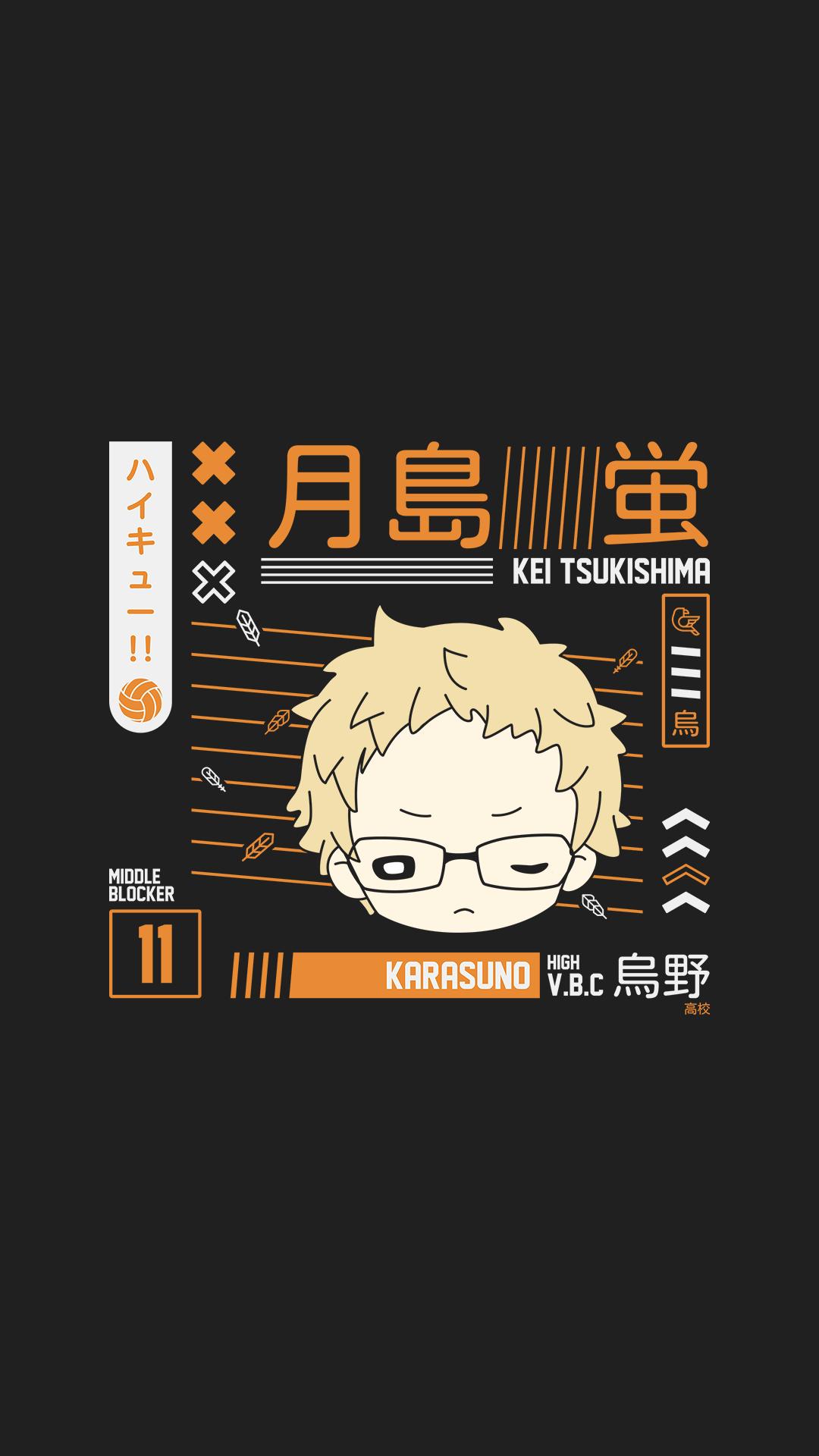 Kei Tsukishima Wallpaper Karasuno In 2020 Haikyuu Karasuno Haikyuu Tsukishima Haikyuu