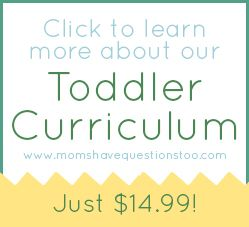 Great curriculum for toddlers to help them learn the alphabet, fine motor skills and more!