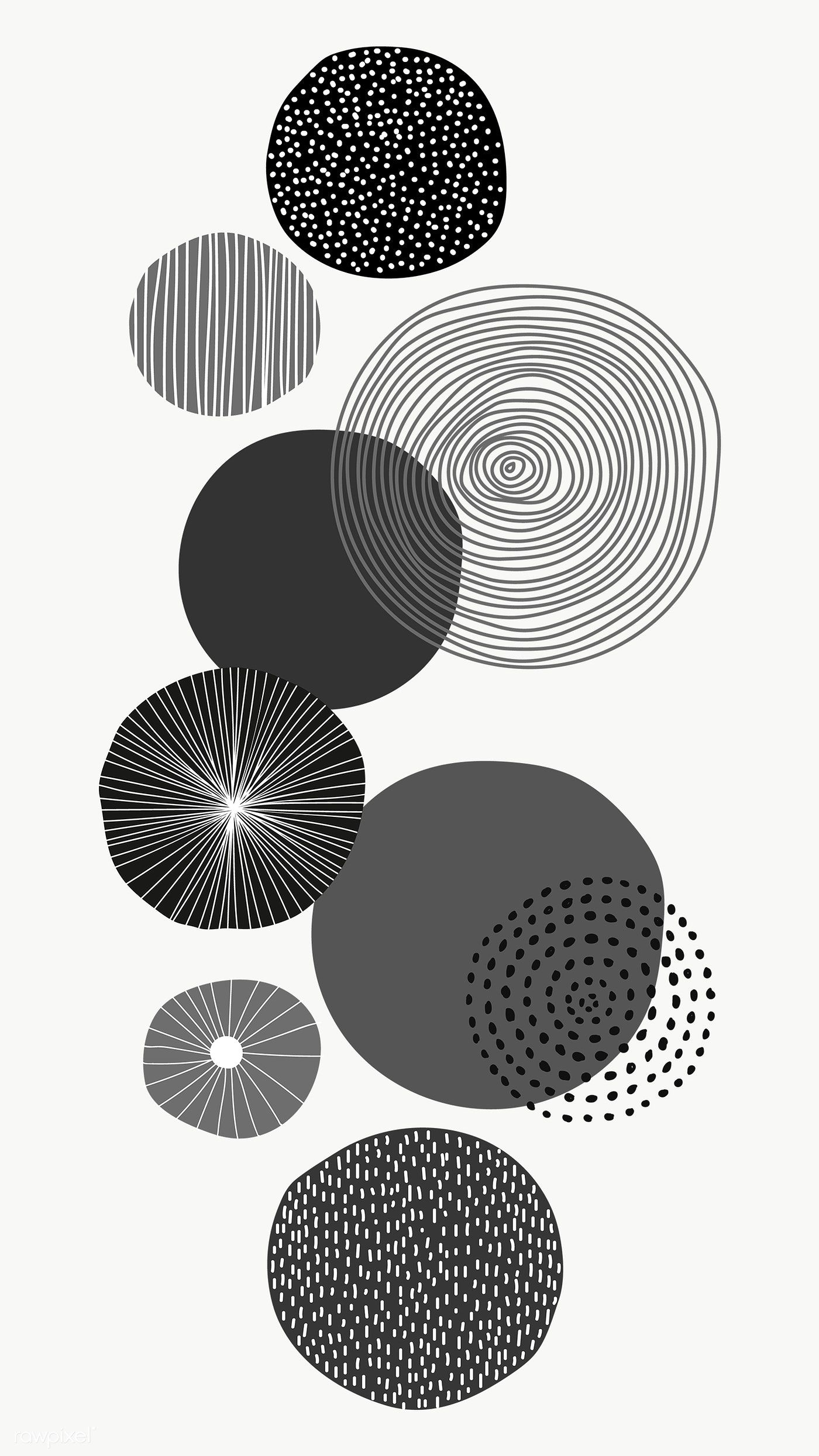 Download Premium Png Of Black Round Patterned Print Transparent Png Remix In 2020 Background Patterns Wall Art Prints Black And White Wallpaper
