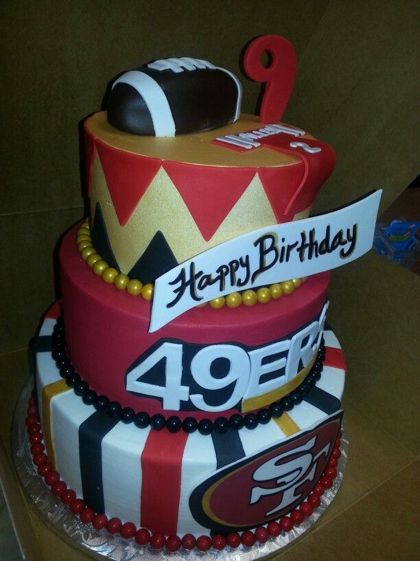 Birthday Cake Design San Francisco : 49Ers. Loved making this cake! cakes Pinterest Cake ...