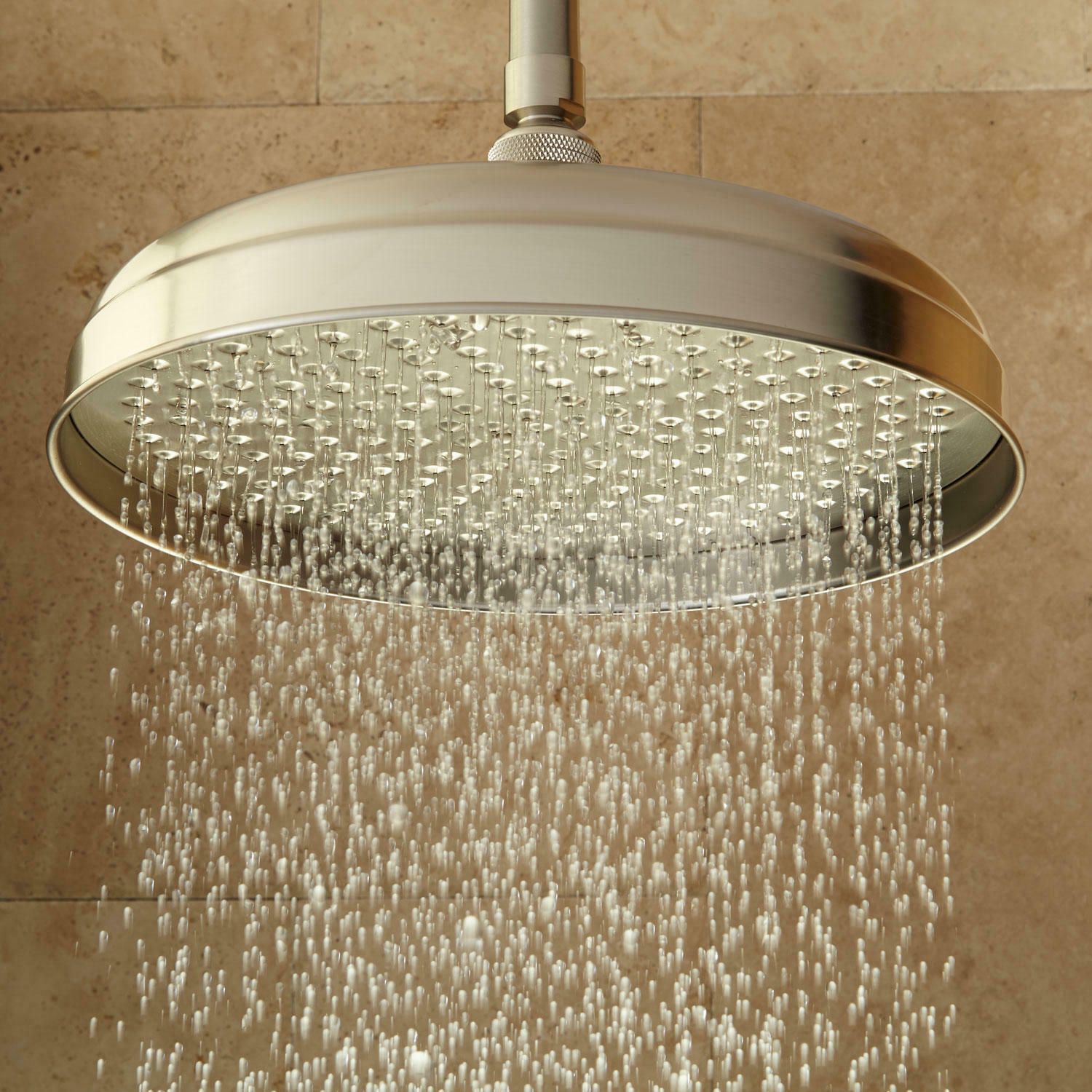 6 Lambert Rainfall Shower Head With 12 Ceiling Arm Brushed Nickel Showers Ideas Of Showers Showers Rainfall Shower Head Rainfall Shower Shower Heads