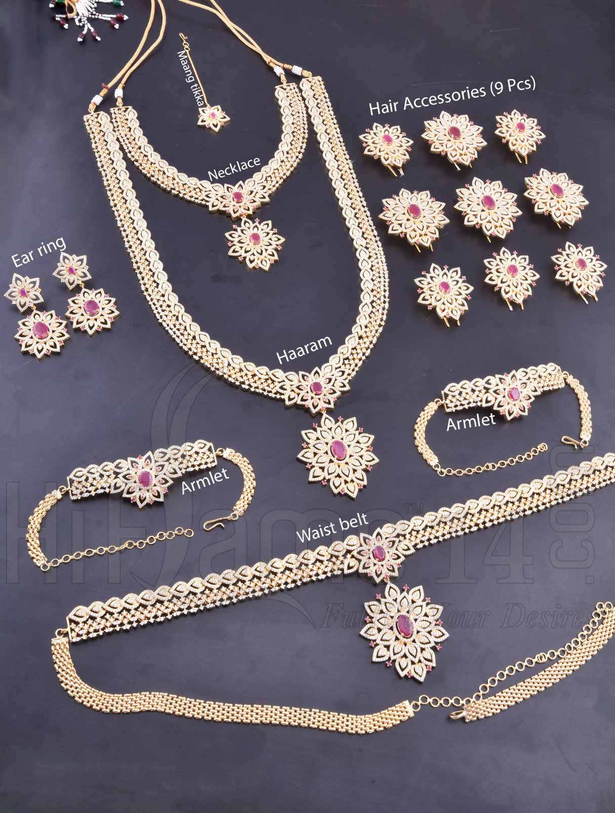Indian Bollywood Design Kundan Made Exclusive Bridal Necklace