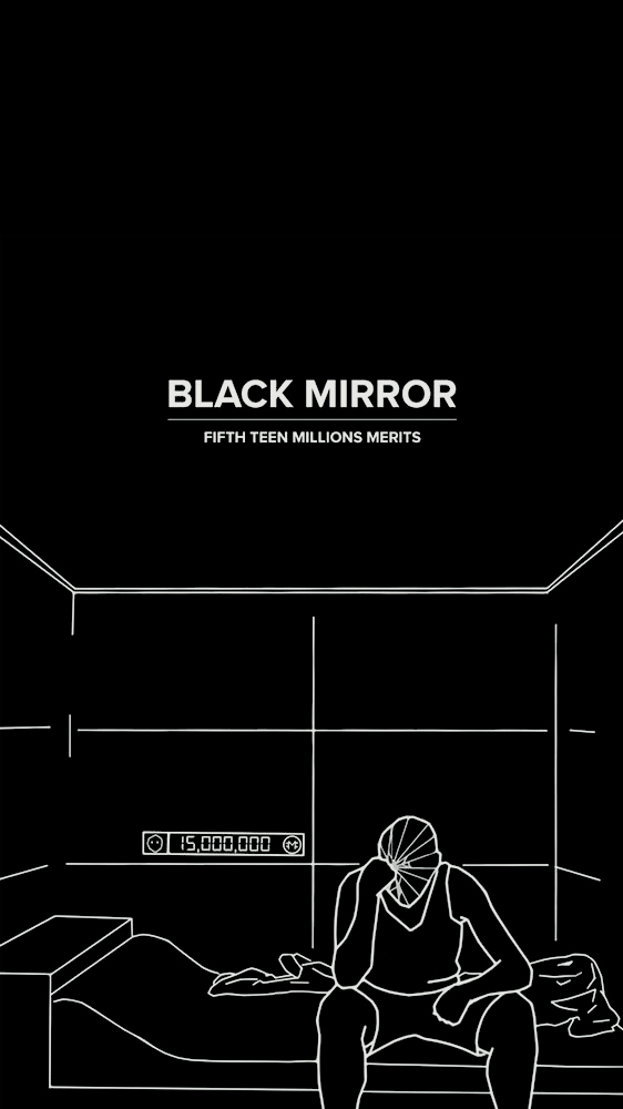 𝘣𝘭𝘢𝘤𝘬 𝘮𝘪𝘳𝘳𝘰𝘳 Black Mirror Retro Poster Emotions