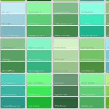 Green And Blue Shades Shades Of Green Names Green Name Green