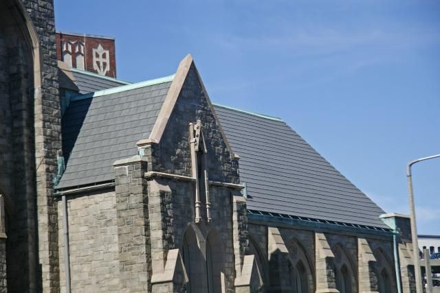 Coast To Coast You Ll Find Davinci Slateroof Shakeroof Tiles Atop Many Churches Simply Beautiful Restoration Shake Roof Historical Architecture