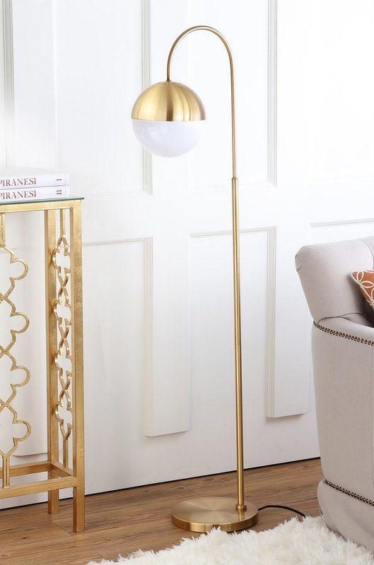 Nahla 71 Quot Torchiere Floor Lamp Brass Floor Lamp Floor Lamp Arc Floor Lamps