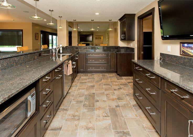 Kitchen Floor Tiles With Dark Cabinets Cherry Wod Gorgeous Kitchen