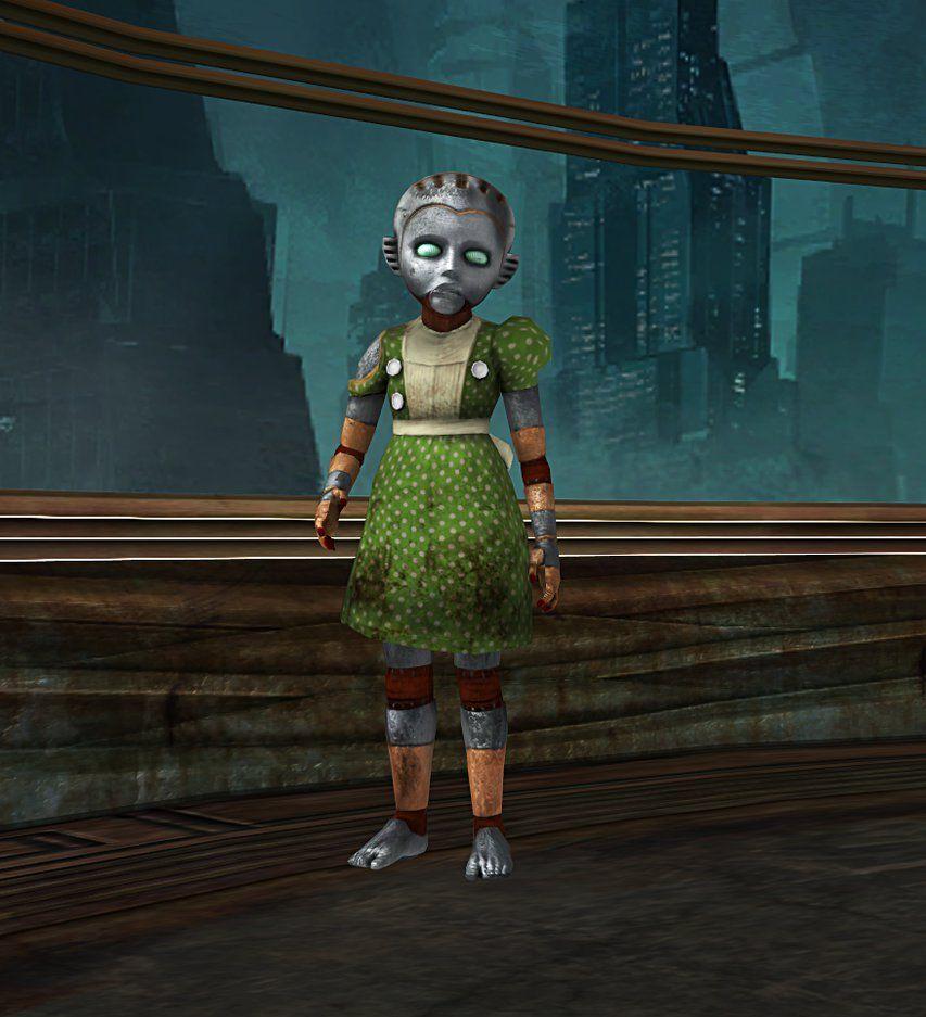 Bioshock 2 robot little sister by mageflower on