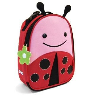 Skip Hop Ladybug Lunchie Please feed the animals! We love these lunchbags available in many designs $24.95 #kids #sweetcreations #lunchbox #skiphop #toddler