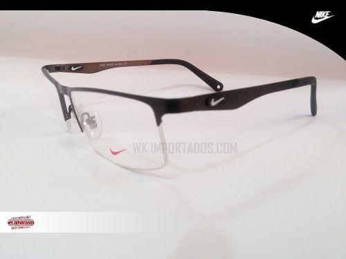 1311acdf3 Armação P/ Óculos Titanium Nike + Frete + Estojo Top - R$ 79,99 ...
