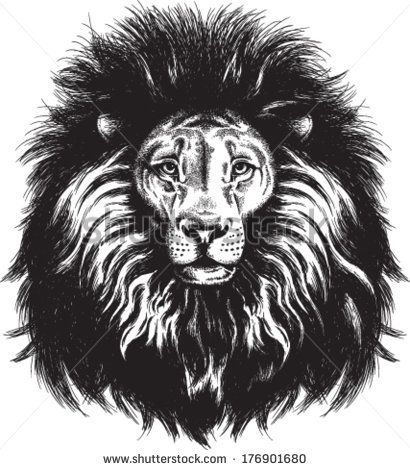 Vector Clip Art of Retro Majestic Lion Head Profile by Prawny Vintage -  #23585