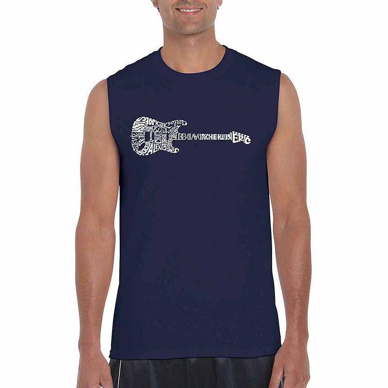 23641ec06d8e2 Los Angeles Pop Art Rock Guitar Sleeveless Word Art T-Shirt ...