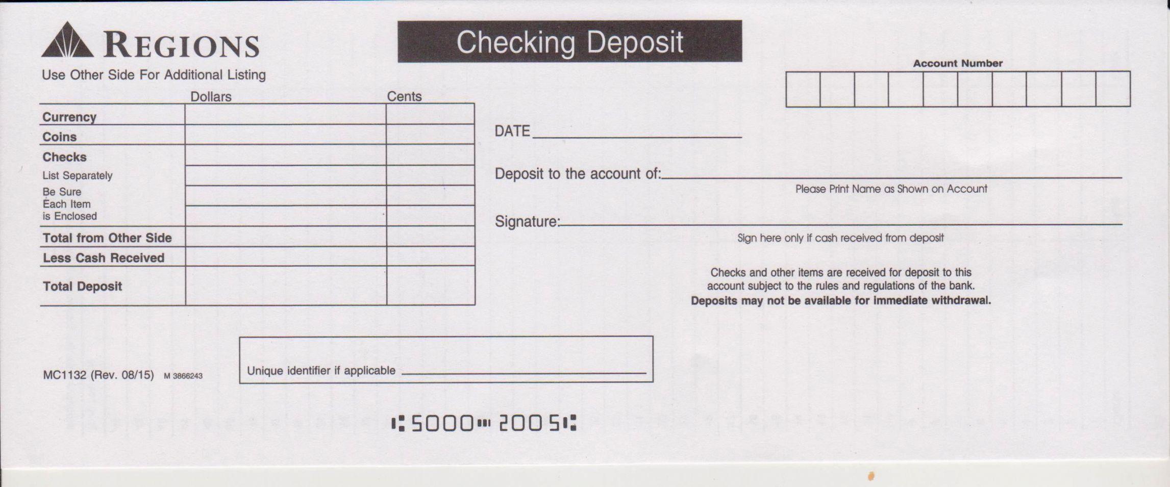 Get Our Example Of Cash Deposit Slip Template Deposit Bank Deposit Certificate Of Deposit