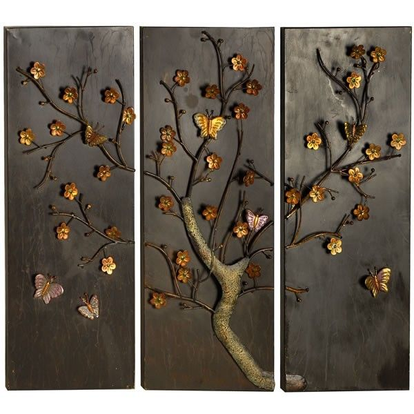Butterfly panel metal wall art Metal wall art Metal walls and Walls
