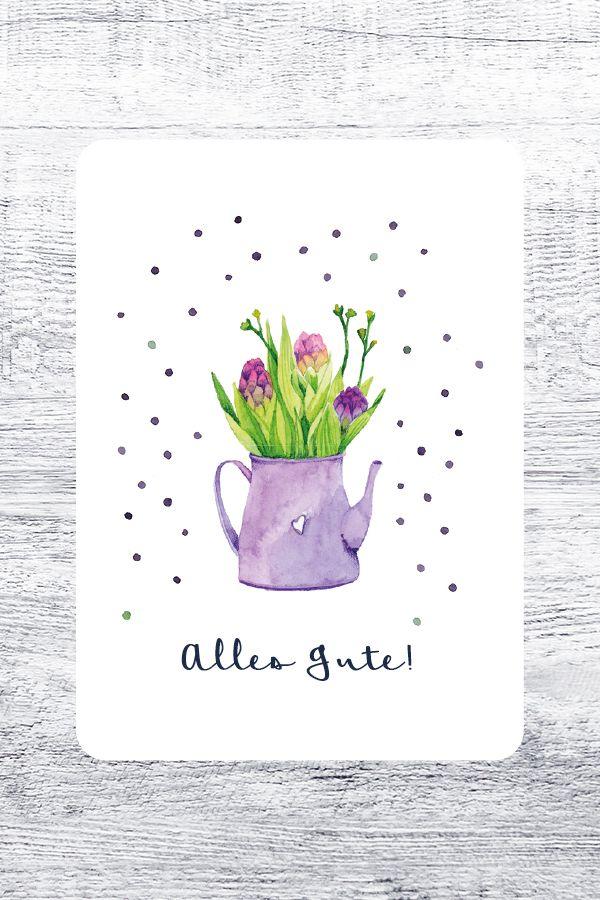 Noch schöner gratulieren: Neue Postkarte aus dem Studio Otto: Alles Gute!