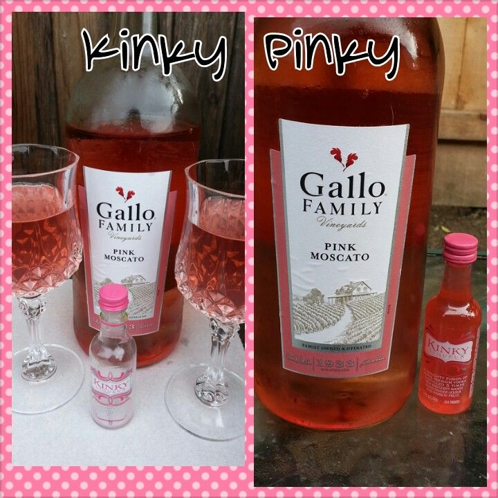 Pink moscato and kinky liquor yummy yummy drinks for Drinks with pink moscato
