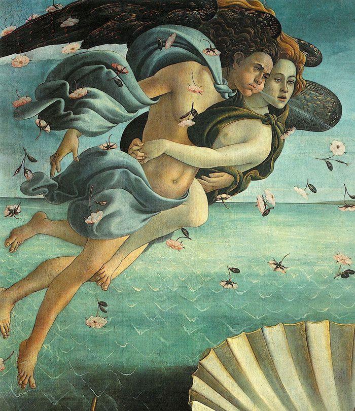 Sandro Botticelli, The Birth of Venus (detail)