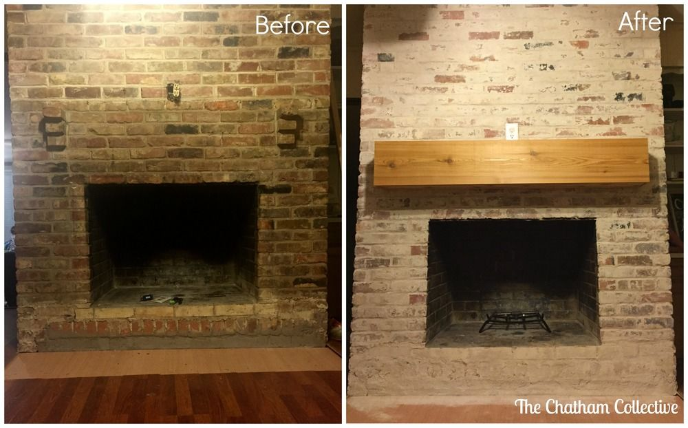 Before And After Brick Fireplace Mortar Washing Similar