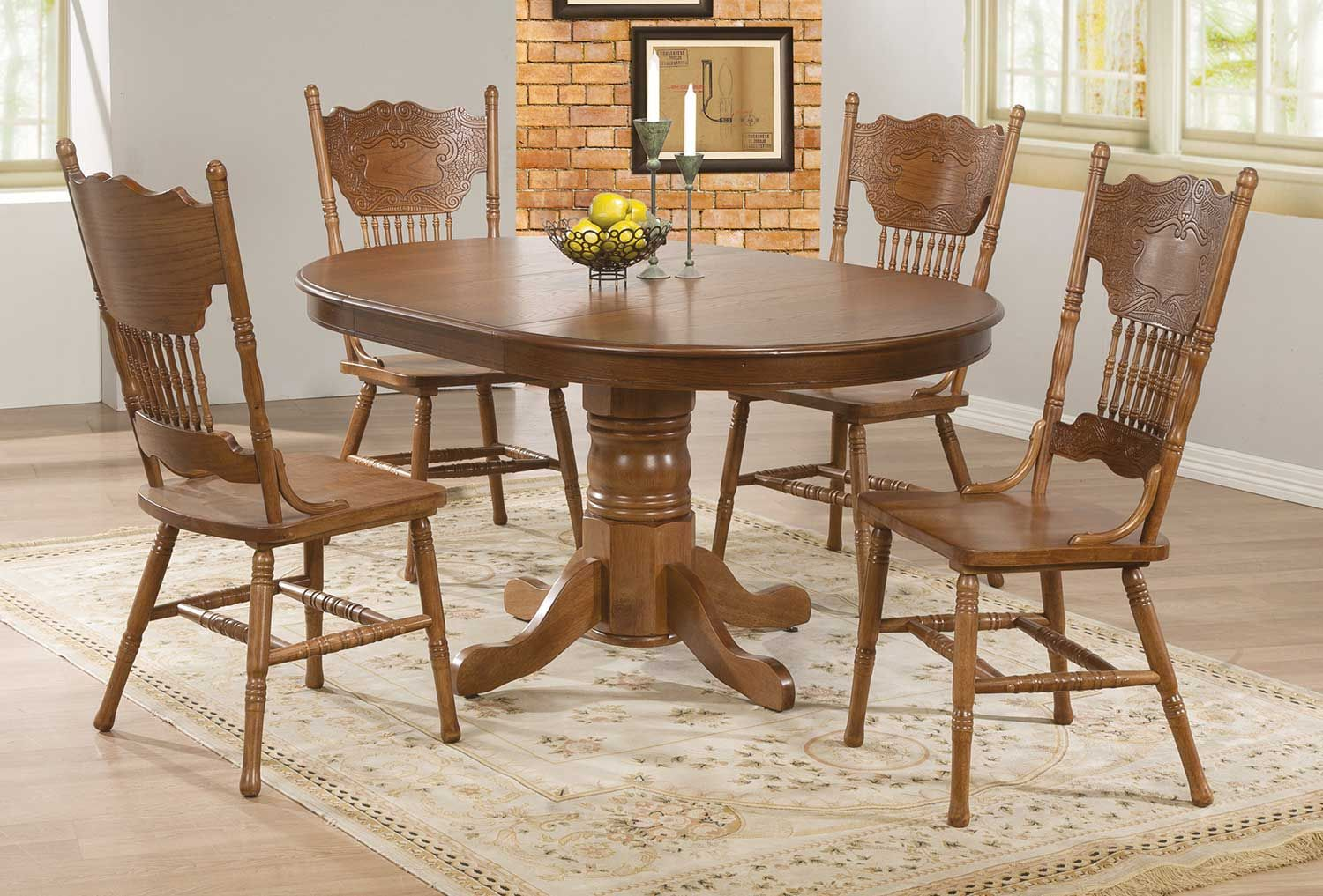Coaster Brooks Dining Set Oak In 2020 Dining Room Sets Oak