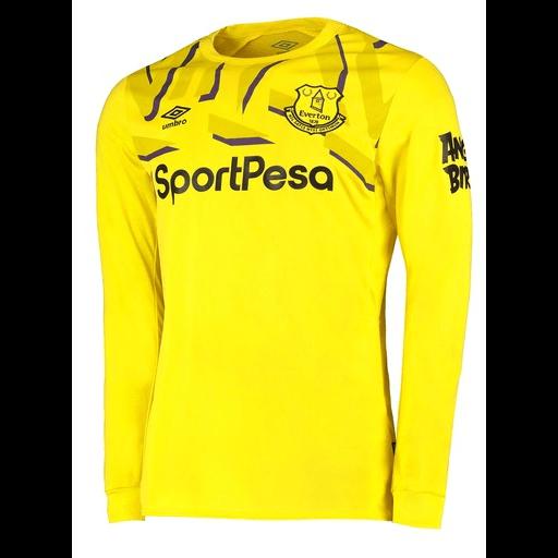 Everton F C Football Club Umbro Goalkeeper Home Long Sleeve 2019 20 F Www Worldsoccerfootballshop Com Football Club Umbro Everton