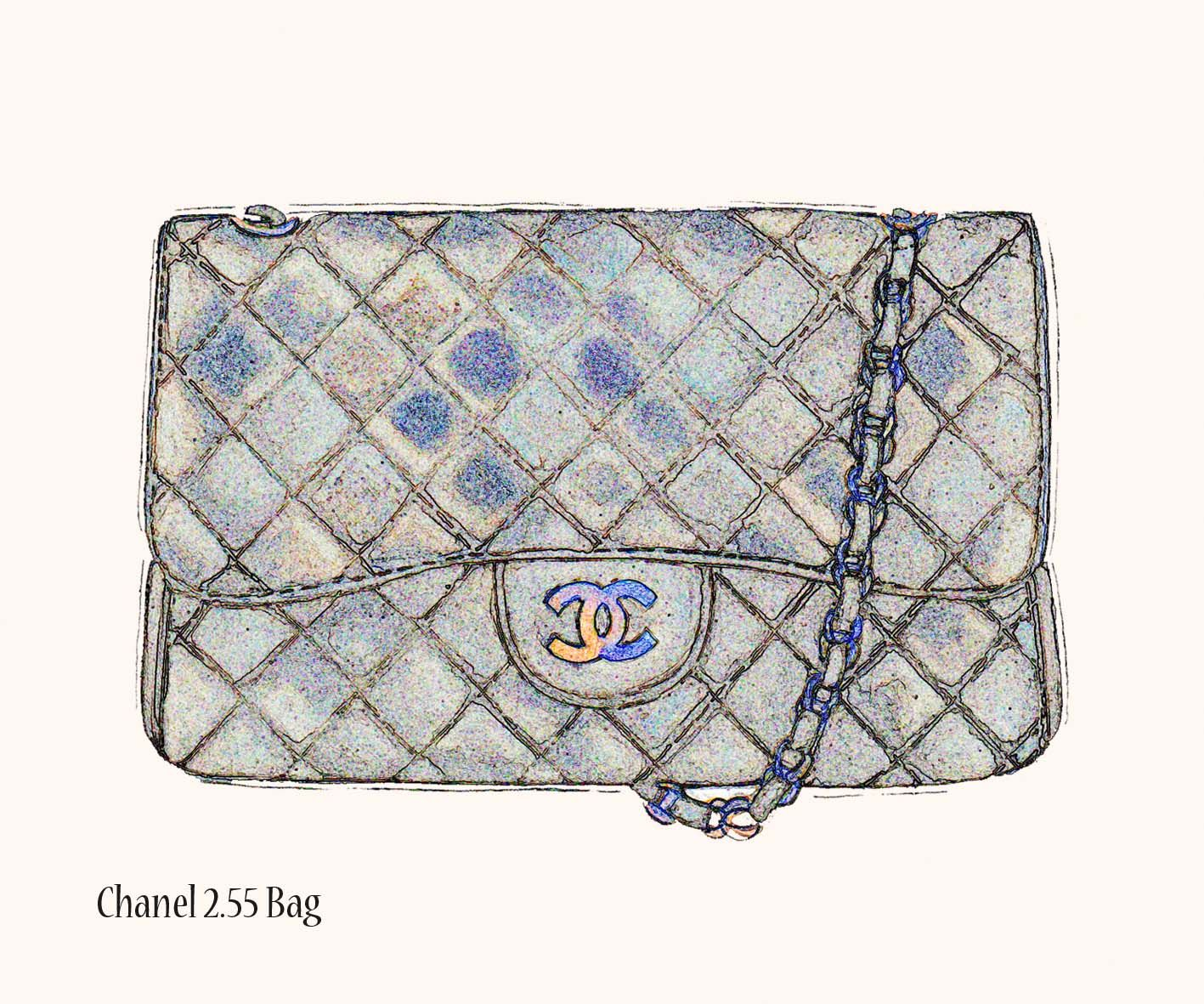 2f7e73afe chanel bag illustration - Google Search | clutch sketches in 2019 ...