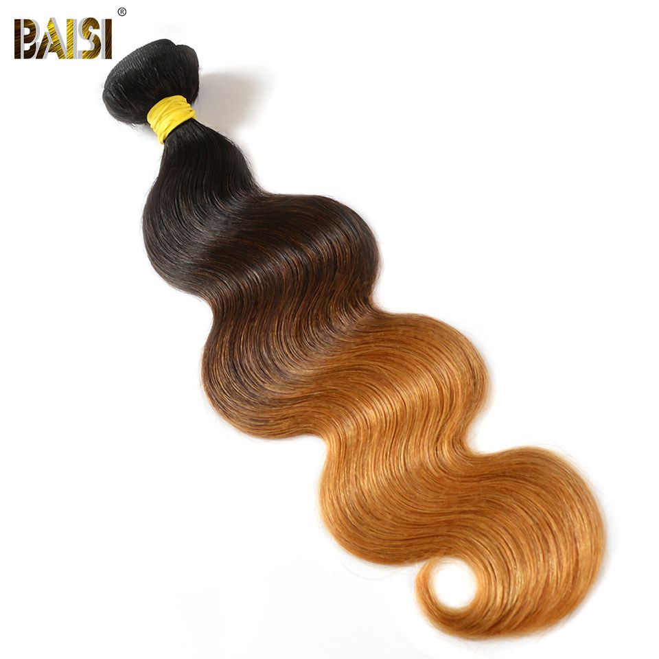 Baisi European Hair Ombre Body Wave 1b427 Color Machine Double