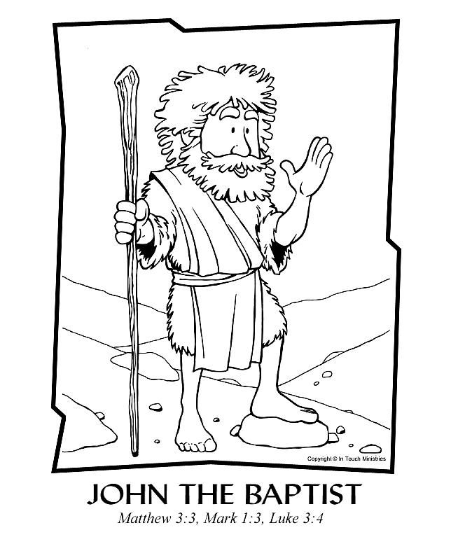 Preschool bible lesson coloring pages ~ John the Baptist Coloring Page | Sunday school coloring ...