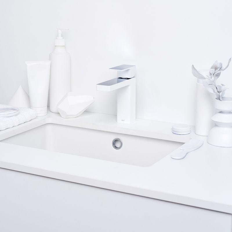Splice Basin Mixer in White/Chrome from Dorf | The bathroom ...