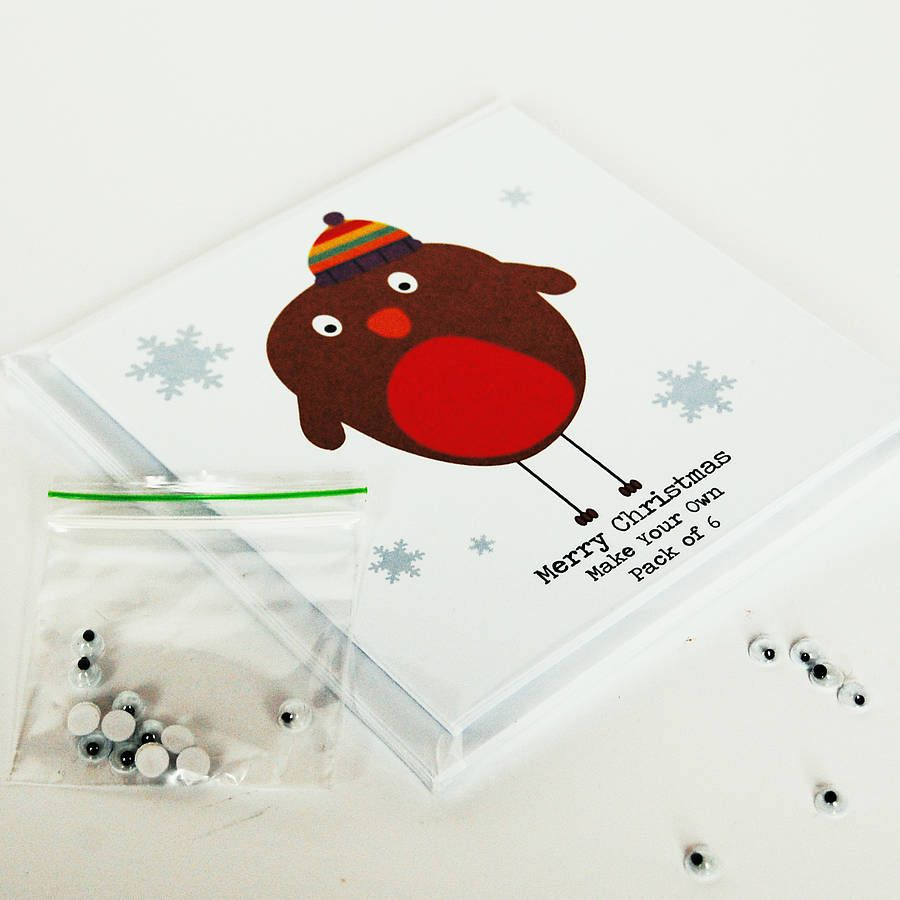 Make Your Own Googly Eye Christmas Cards X 12 | Christmas Ideas ...