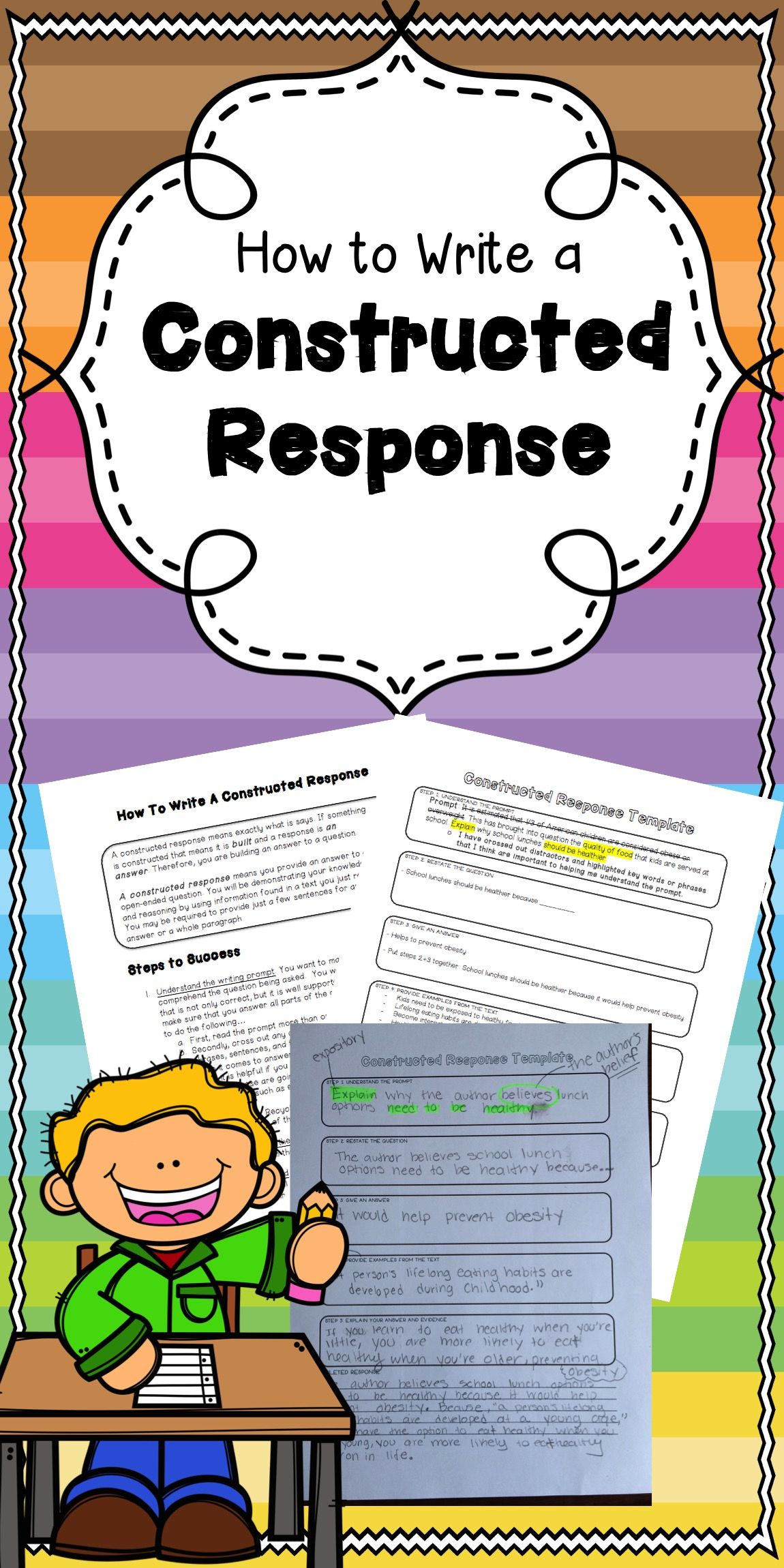 How to Write a Constructed Response  Constructed response, Middle