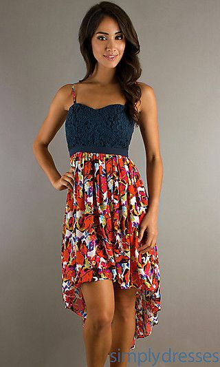 High Low Casual Dresses for Teens