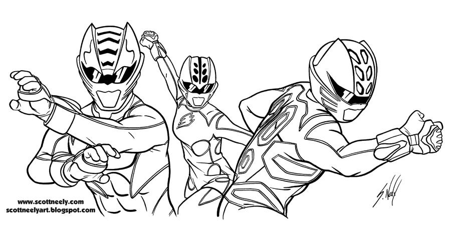 Cat Power Rangers Coloring Page For Boys