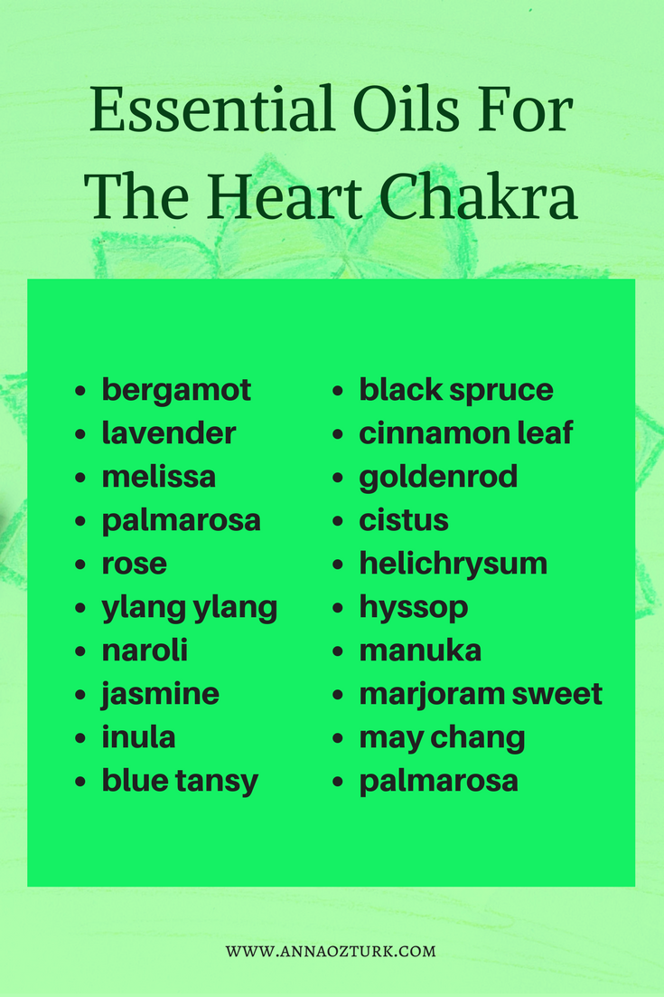 Essential Oils For The Heart Chakra |