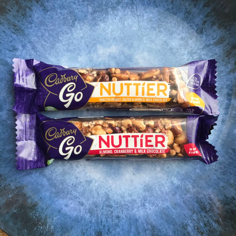 New Cadbury Go Nuttier Bars Salted Almond And Cranberry