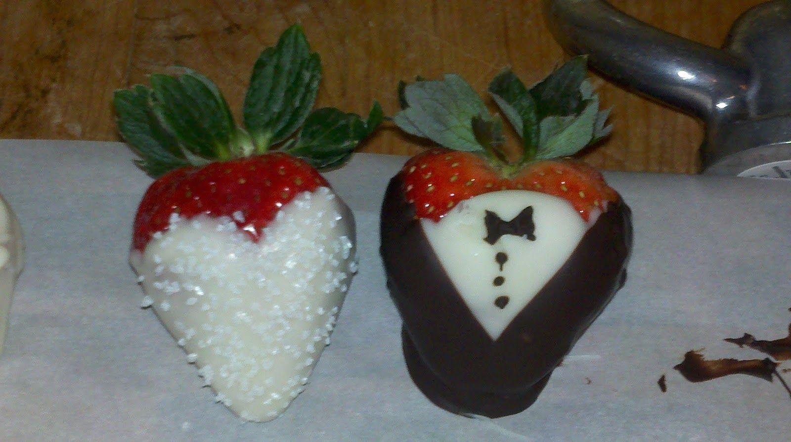 Bride And Groom Strawberries
