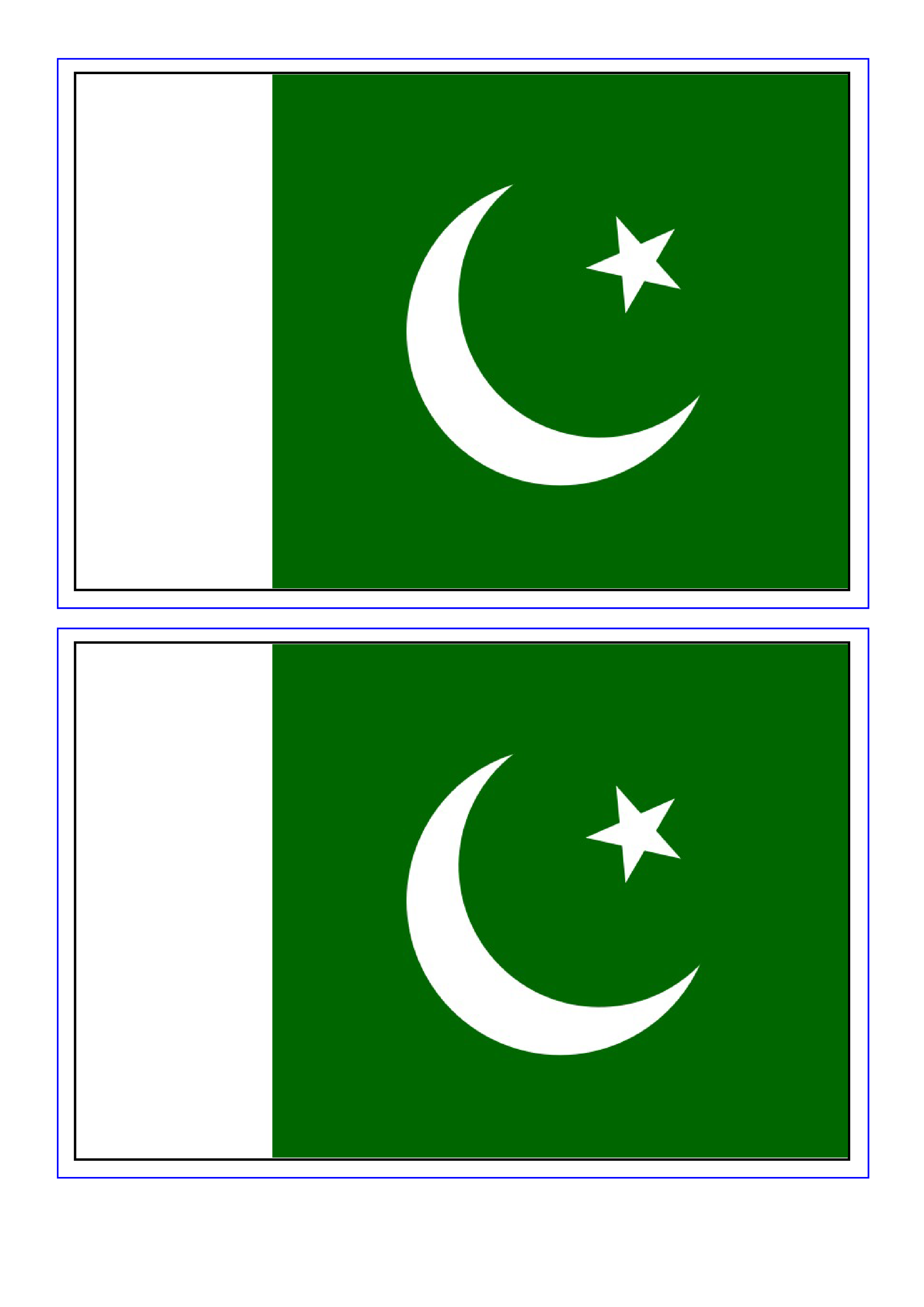 Pakistan Flag Download This Free Printable Pakistan Template A4 Flag A5 Flag 8 And 21 Flags On One A4page Easy To U Pakistan Flag Flag Printable Templates