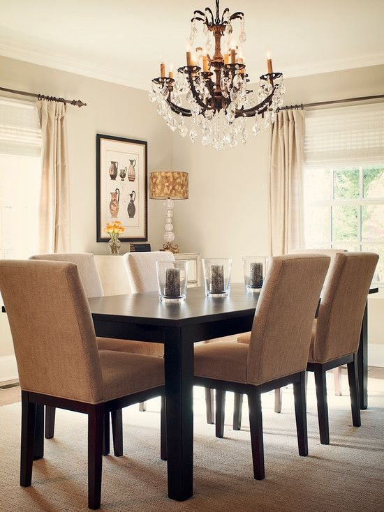 Upholstery is a living thing the chairs would be better for Neutral dining room ideas