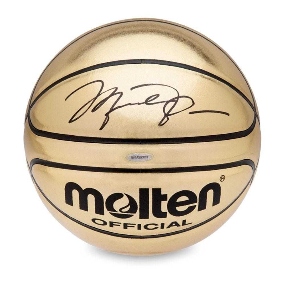 new york ff67a 77928 Michael Jordan Autographed Molten Gold Trophy Basketball Michael Jordan Sign,  Michael Jordan Autograph, Dream