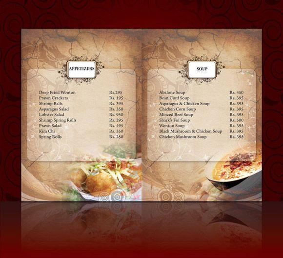Ideas Dise O Cartas Menus Restaurantes Ejemplos Minutas