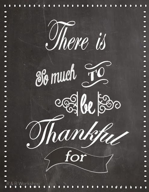 Theres So Much To Be Thankful For Free Printable Jadore