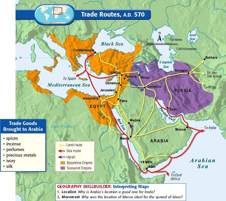 Trade Routes A D 570 Mystery Of History Volume 2 Lesson 24
