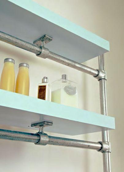 Modern Industrial Style Floating Shelf Great For Bathroom - Diy build industrial hanging shelf